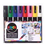 Posca 2.5mm PC-5M Medium tip Marker 8 Piece Set